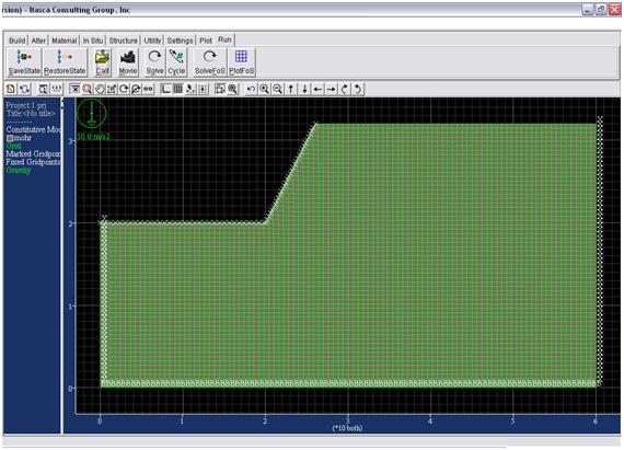 شکل 1- هندسه ساخته شده برای ترانشه