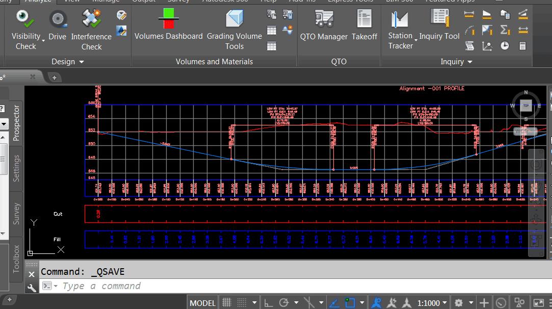 مشکل نمایش برعکس مقادیر کات و فیل در زیر پروفیل طولی در Civil3D