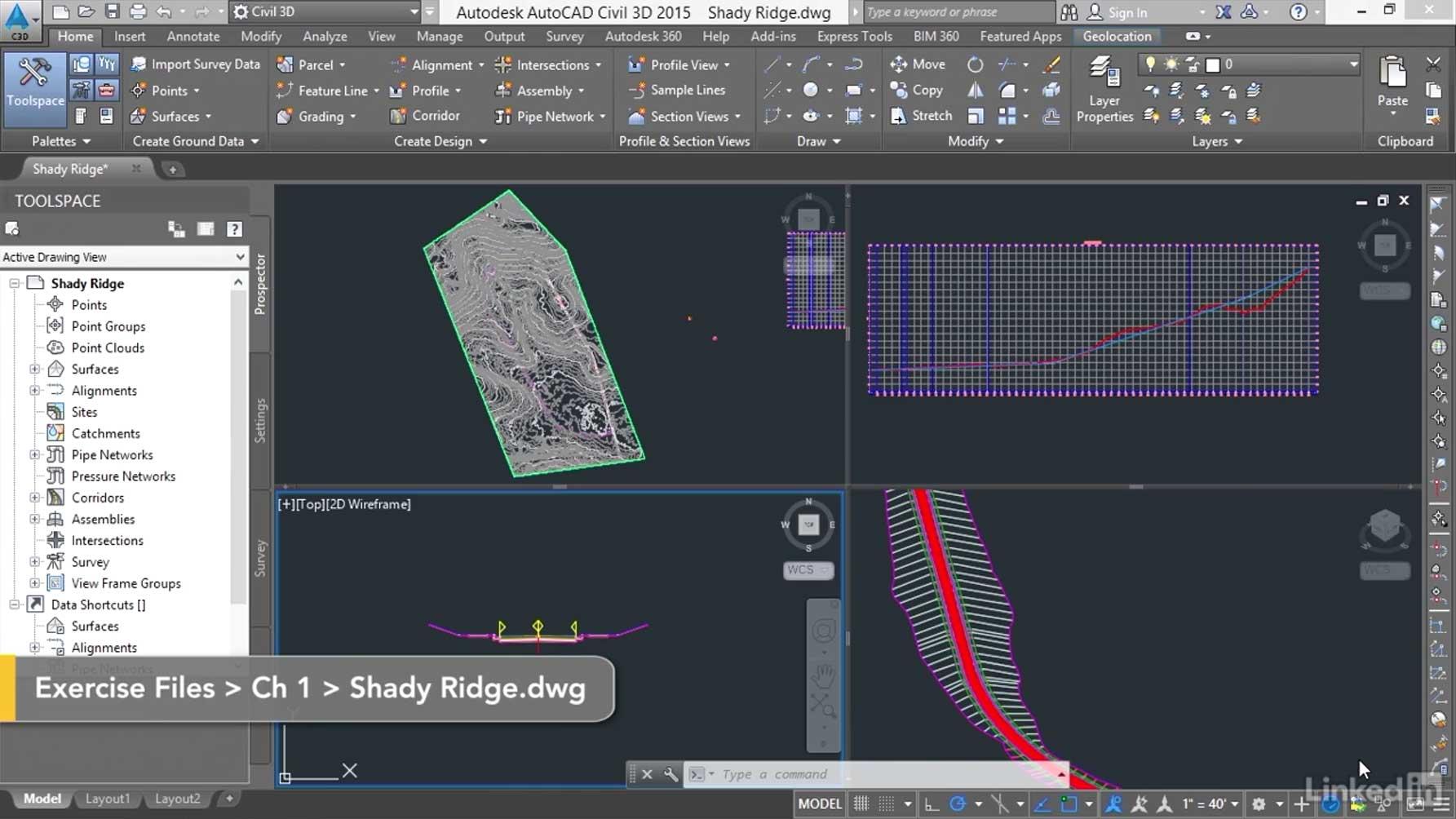 آموزش تصویری طراحی یک راه با نرم افزار Civil 3D