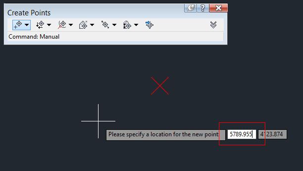 مقدار X را وارد کنید